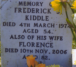 Florence Kiddle Headstone