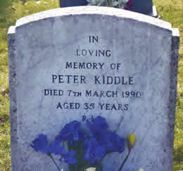 Peter Kiddle Headstone